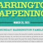 harrignton School Harrington Happenings March 28, 2021
